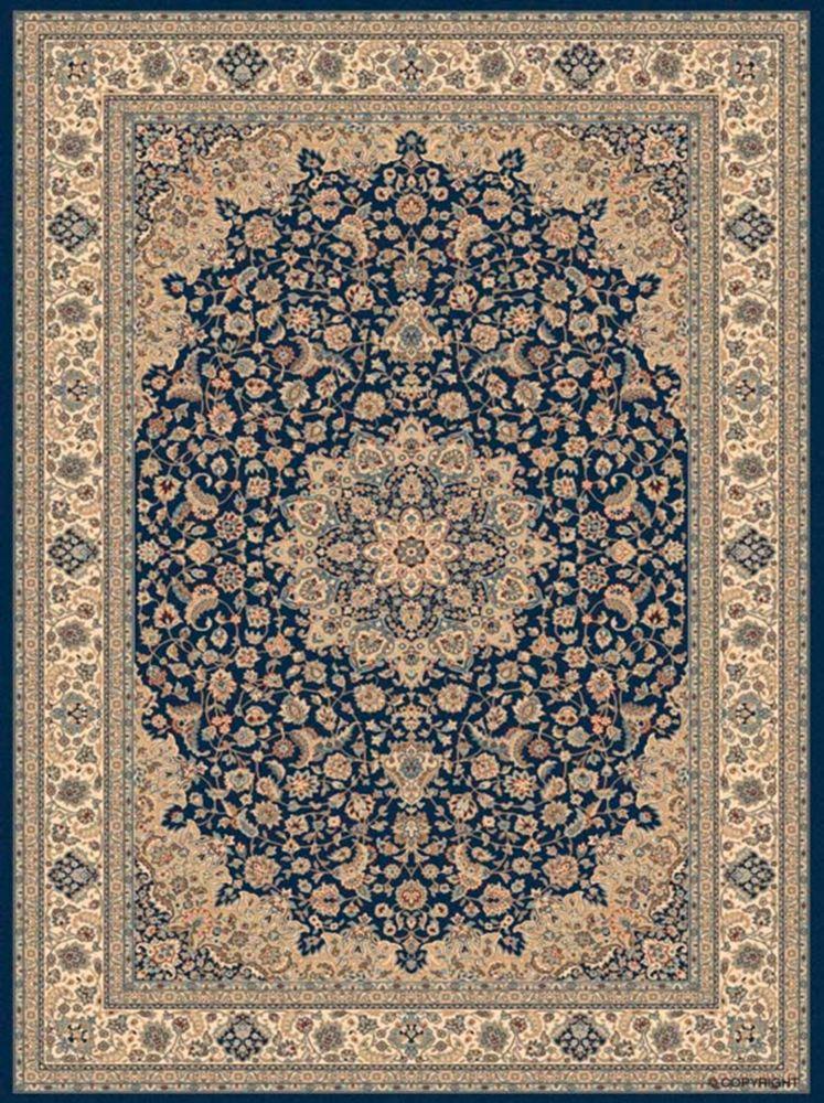 Tapis Classical Manor Bleu 5 pieds 3 pouces x 7 pieds 5 pouces
