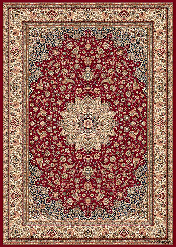 Classical Manor Red 6 ft. 6-inch x 9 ft. 6-inch Indoor Traditional Rectangular Area Rug