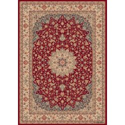 Balta Us Classical Manor Red 6 ft. 6-inch x 9 ft. 6-inch Indoor Traditional Rectangular Area Rug