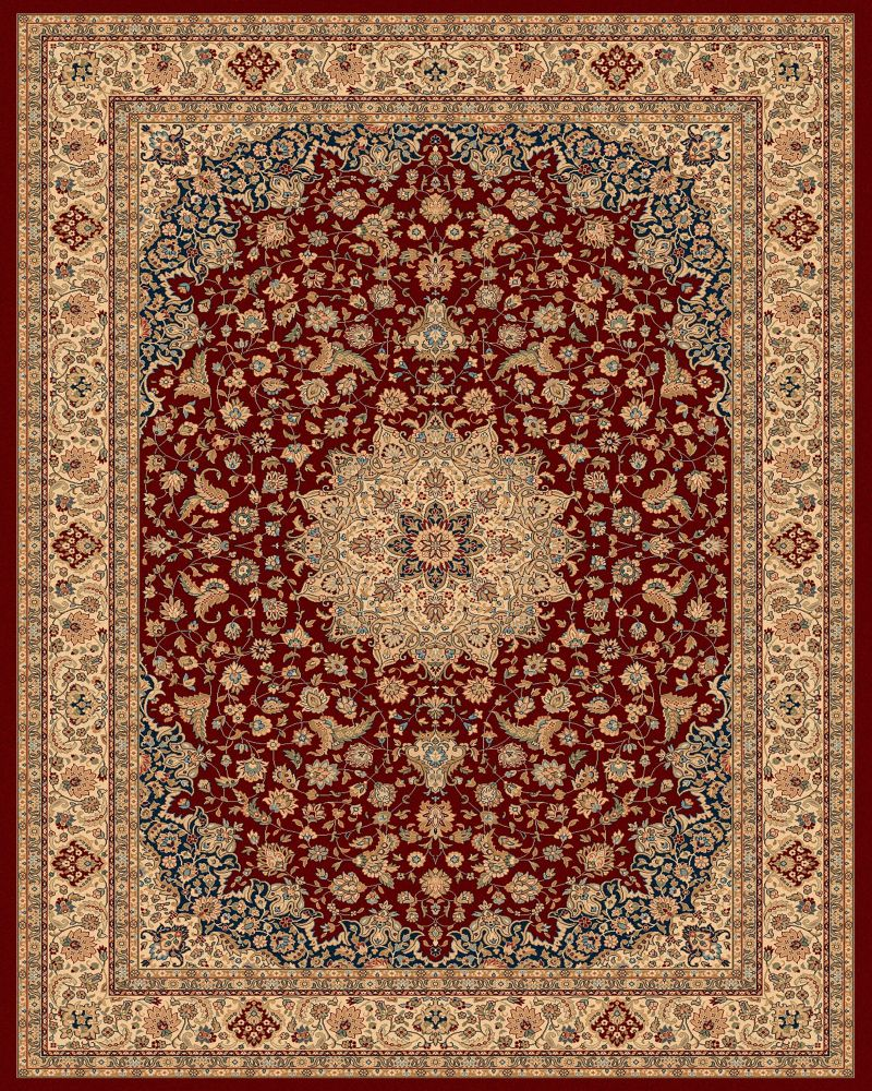 Classical Manor Red 7 Feet 10 Inch x 11 Feet Area Rug