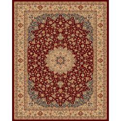 Balta Us Carpette d'intérieur, 7 pi 10 po x 11 pi, style traditionnel, rectangulaire, rouge Classical Manor