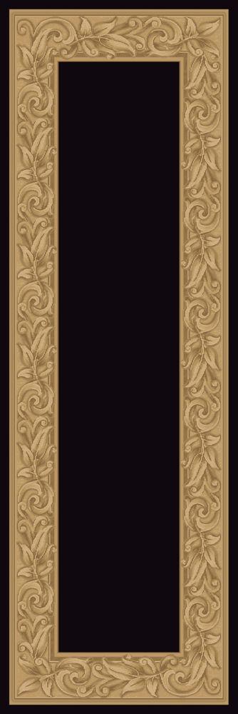 Tapis de passage Elegant Embrace noir 2 Pieds 7 pouces x 7 pieds 10 pouces
