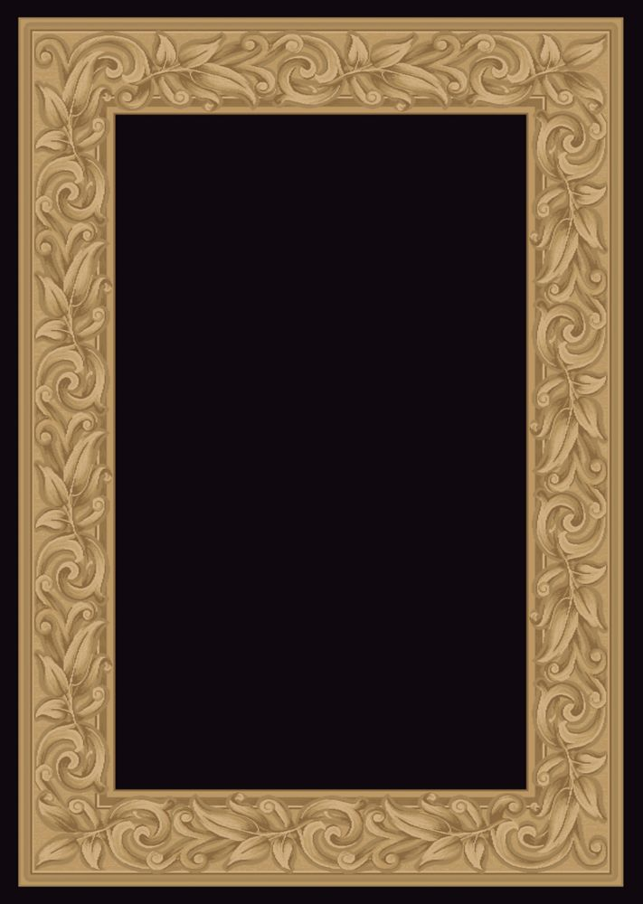 Elegant Embrace Black 3 Feet 11 Inch x 5 Feet 7 Inch Area Rug