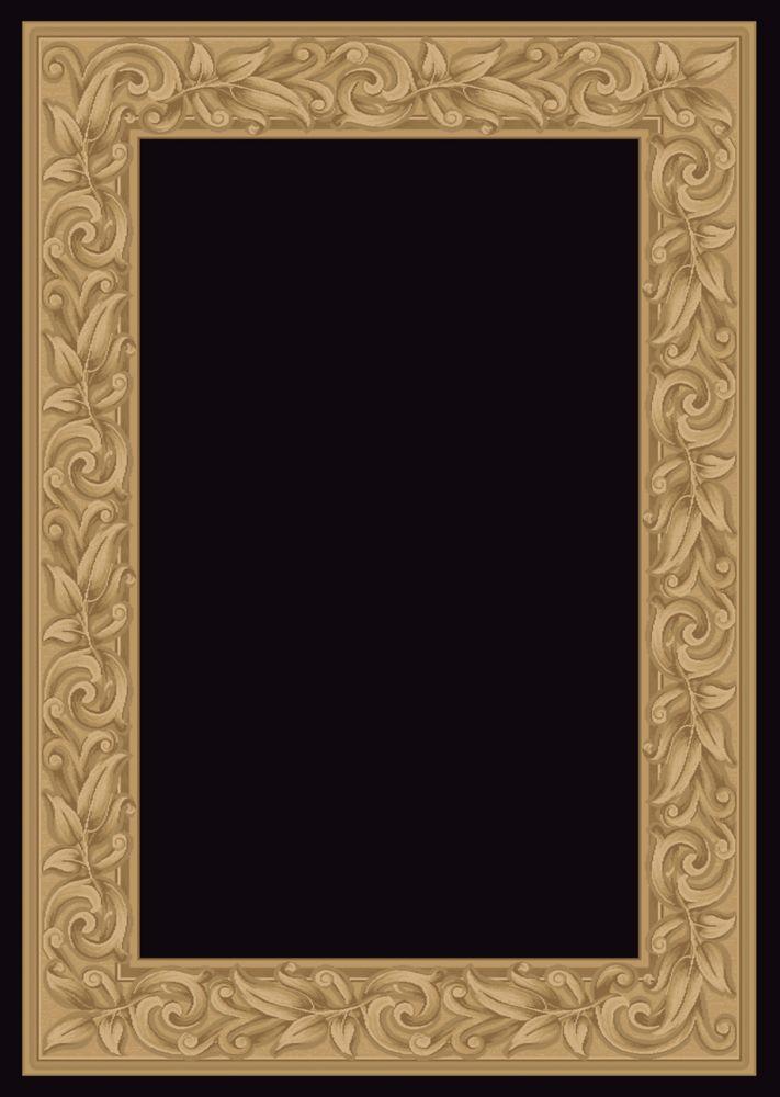 Tapis Elegant Embrace noir 5 Pi. 3 Po. x 7 Pi. 5 Po.