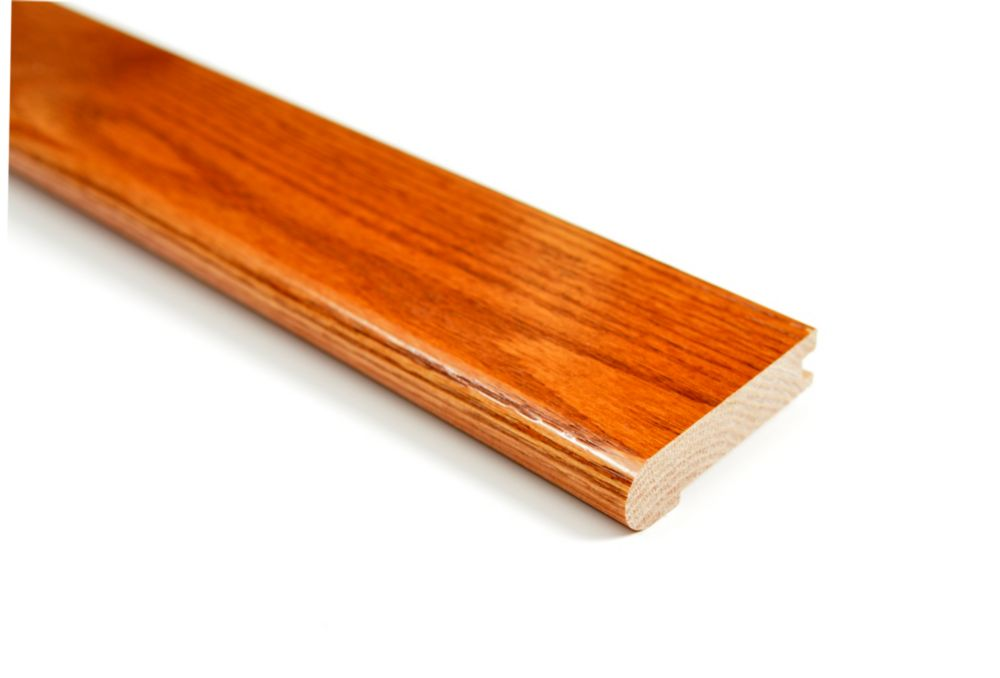 Finium 45-inch x 3/4-inch x 3 1/8-inch Oak Nosing in Gunstock