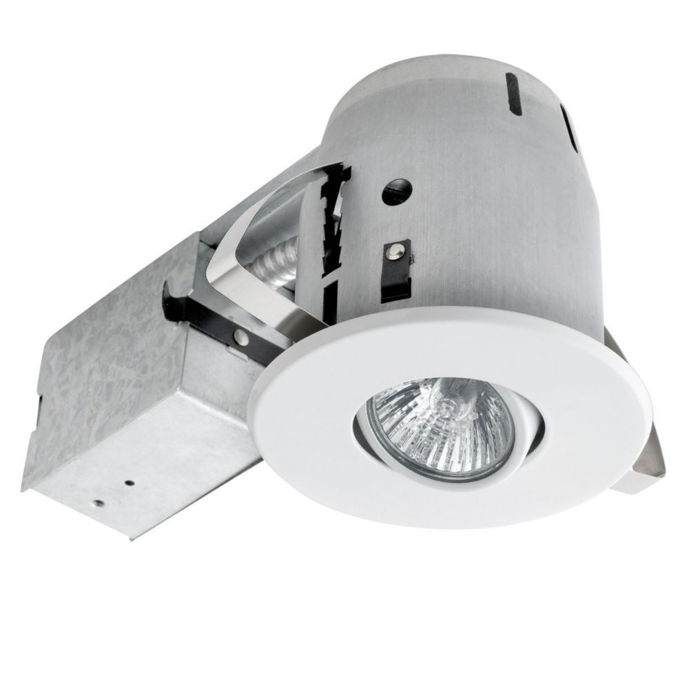 90440 4 Inch Swivel Recessed Lighting Kit, White Finish