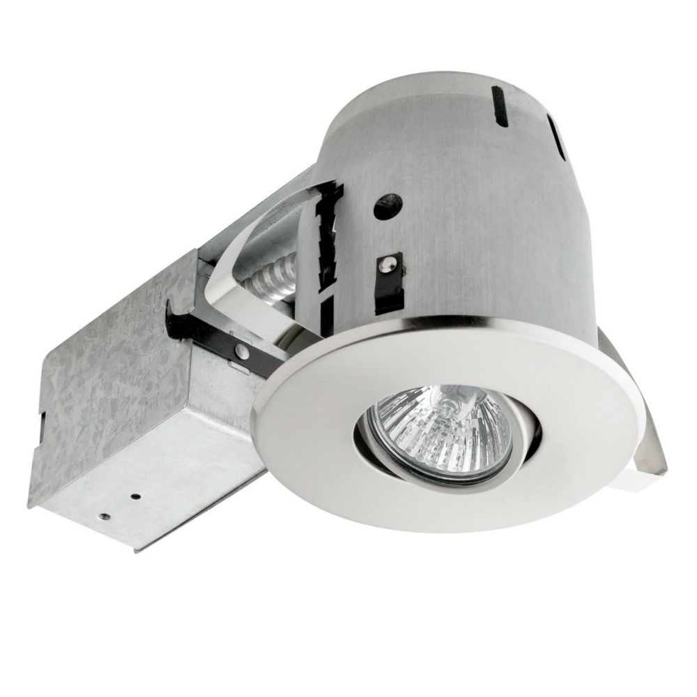90442 4 Inch Swivel Recessed Lighting Kit, Brushed Nickel Finish