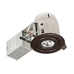 Globe Electric 90013 4 Inch Swivel Recessed Lighting Kit, Dark Bronze Finish