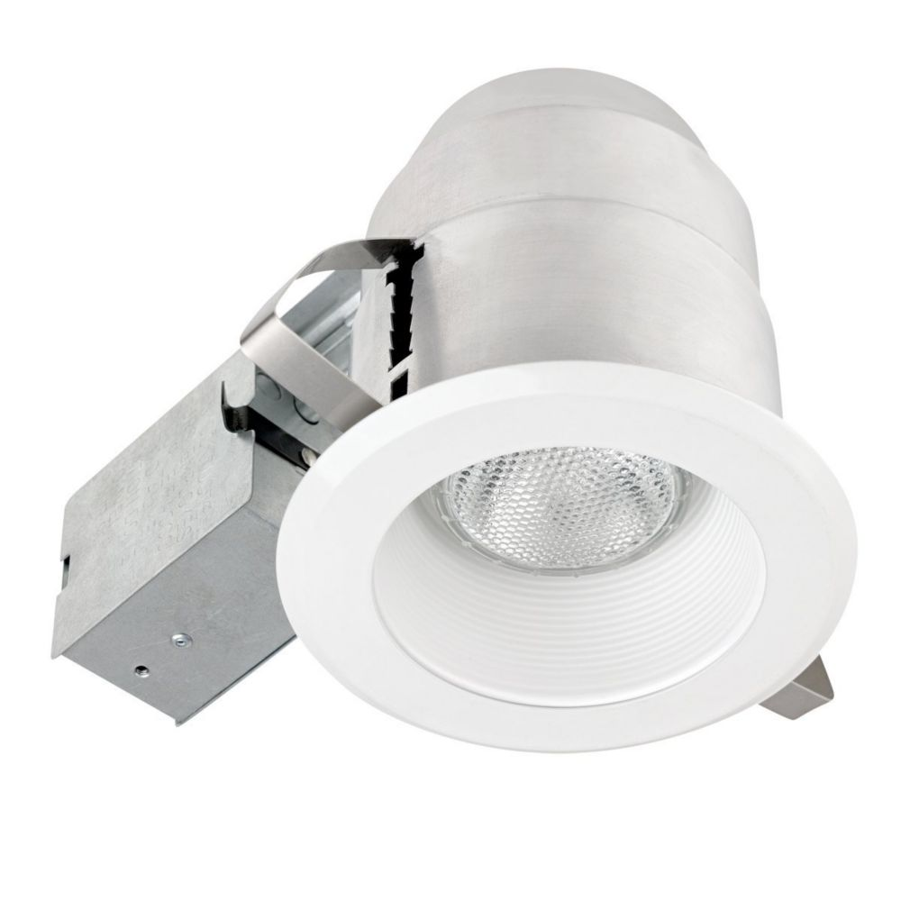 92404 5 Inch IC Rated Recessed Lighting Kit, White Finish