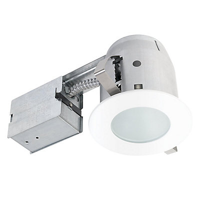 Globe electric 90663 4 inch recessed shower lighting kit white 90663 4 inch recessed shower lighting kit white finish aloadofball Image collections