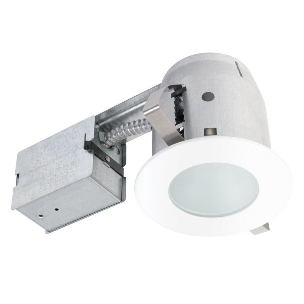 Globe Electric 90663 4 Inch Recessed Shower Lighting Kit, White Finish
