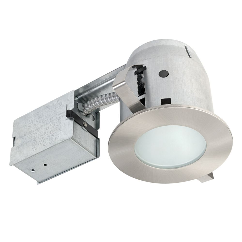 Globe Electric 4-inch Brushed Nickel Recessed Shower Lighting Kit