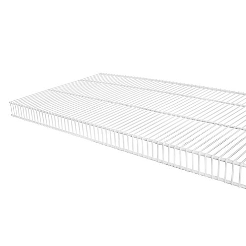 TightMesh 16-inch x 8 ft. Wire Shelf in White