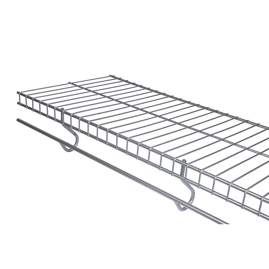 12-inch X 8 Feet Freeslide Shelf Satin Nickl