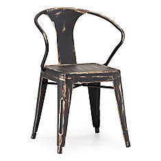 Helix Patio Chair in Antique Black Gold