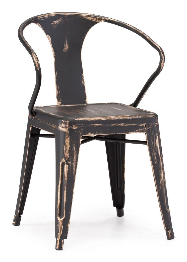 Helix Chair Antique Black Gold