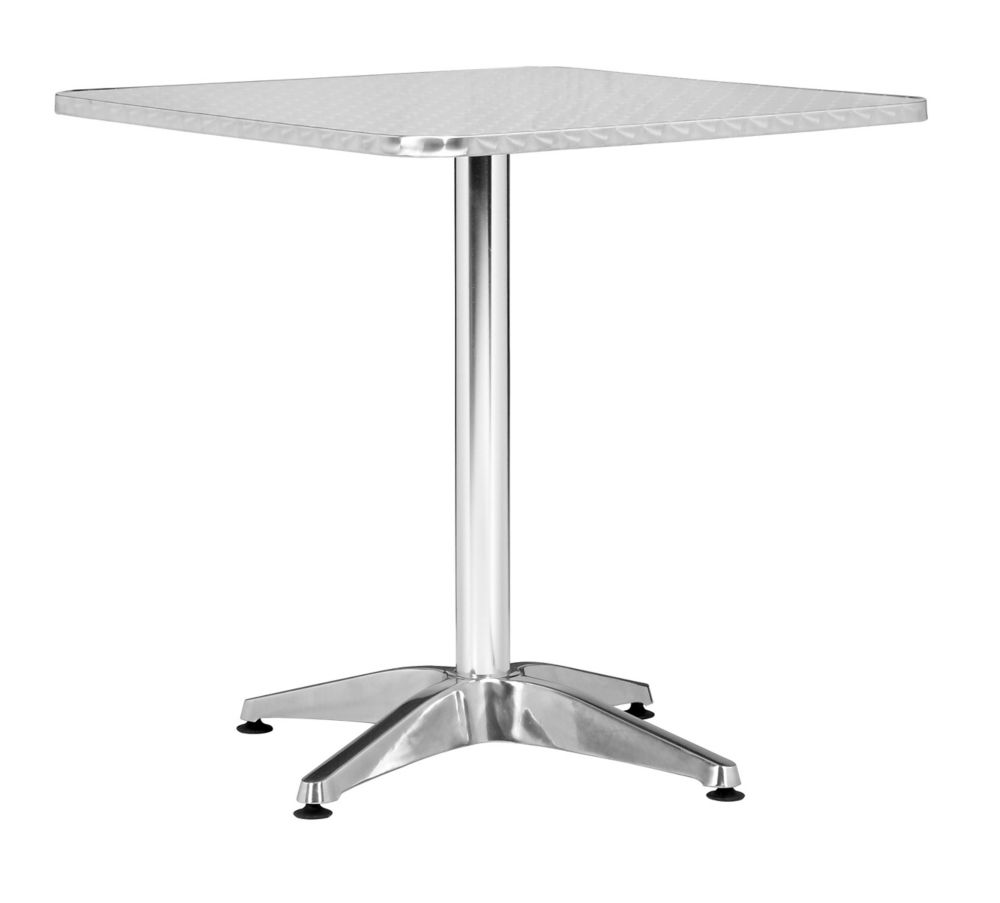 Zuo modern table carr e christabel aluminium home depot canada - Table carree exterieur aluminium ...