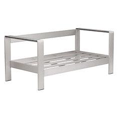 Cosmopolitan Sofa Frame Brushed Aluminum