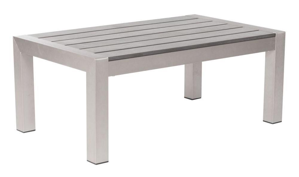 Cosmopolitan Coffee Table Brushed Aluminum 701860 Canada Discount