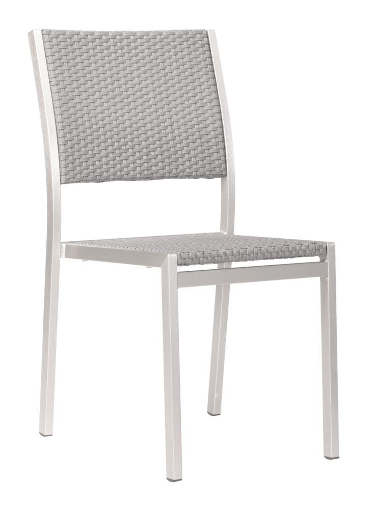 Chaise Metropolitan Aluminium Brossé