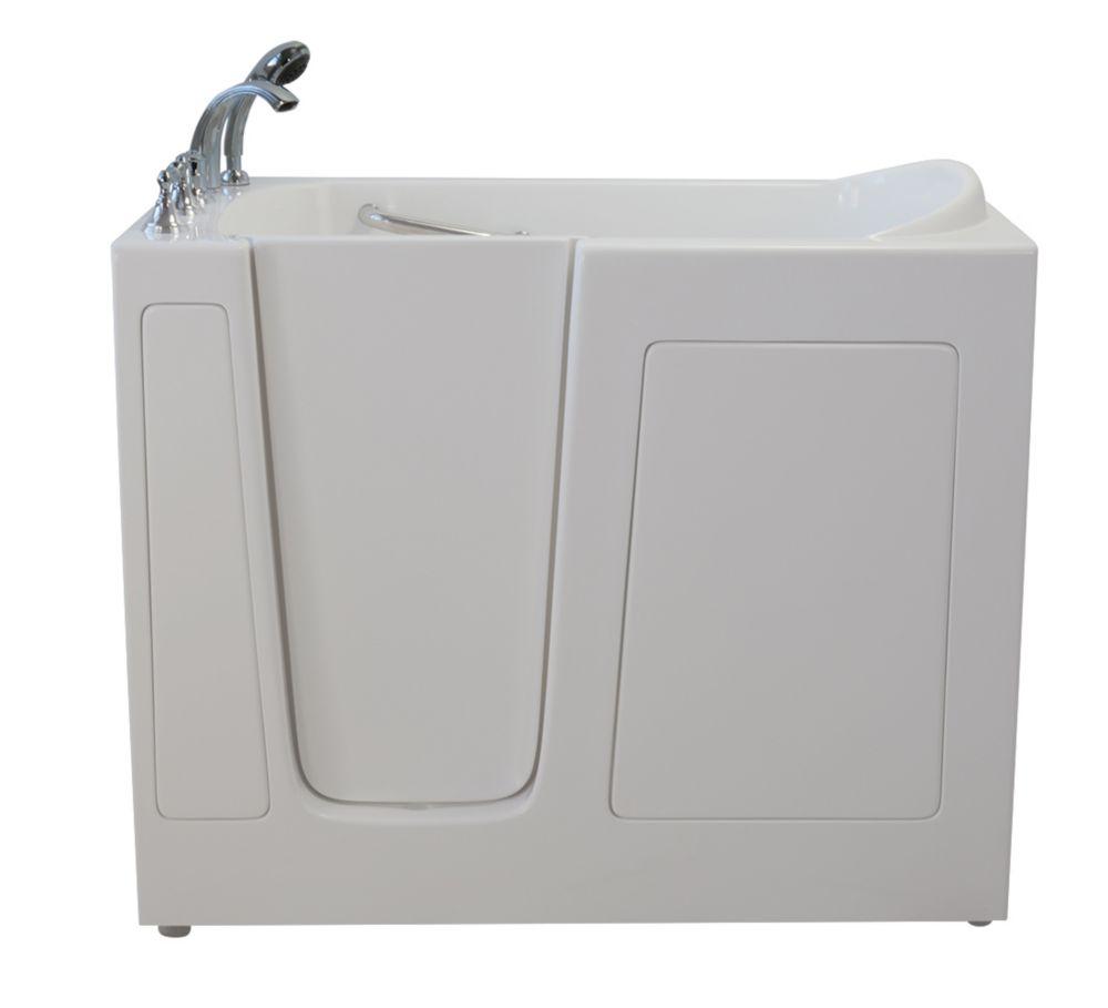 E-Series Dual Massage 4 Feet 6-Inch Walk-In Whirlpool Bathtub in White