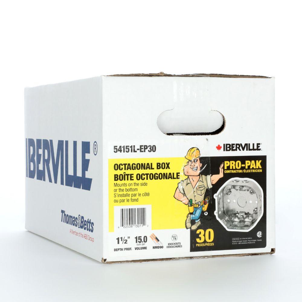 Iberville 54151L Octagonal Box Ctn/30