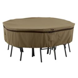 Classic Accessories Hickory Table & Chair Set Cover - Round, Medium