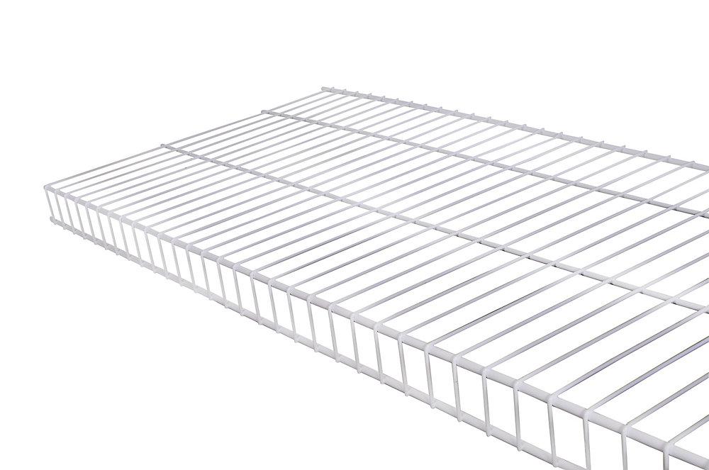Linen 16-inch x 8 ft. Wire Shelf in White
