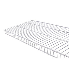 Linen 16-inch x 8 ft. Wire Shelf in White