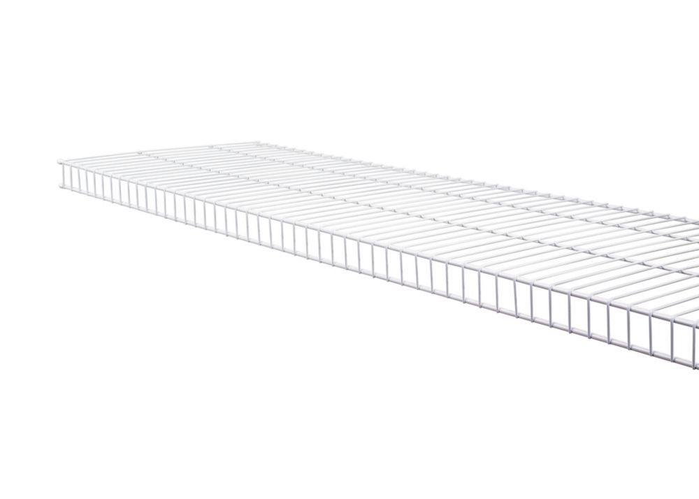 rubbermaid 20 inch x 4ft white tight mesh shelf