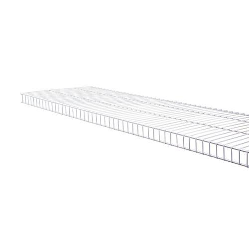 Rubbermaid Linen 12-inch x 12 ft. Wire Shelf in White