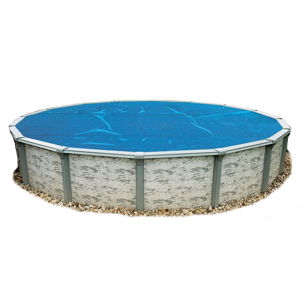 Toile solaire ronde 10 m X 8 mm pour piscine hors-terre - Bleue