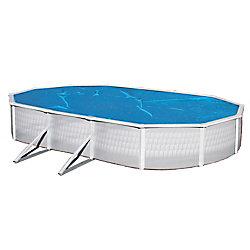 Blue Wave 21 ft. x 43 ft. Oval 8-mil Blue Solar Blanket for Above-Ground Pools
