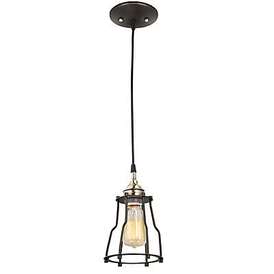 globe electric 1 light vintage hanging caged pendant light fixture