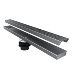 Jag Plumbing Products Geotop Linear Shower Drain 54 Inch. Length in a Brushed Satin Stainless Steel Finish