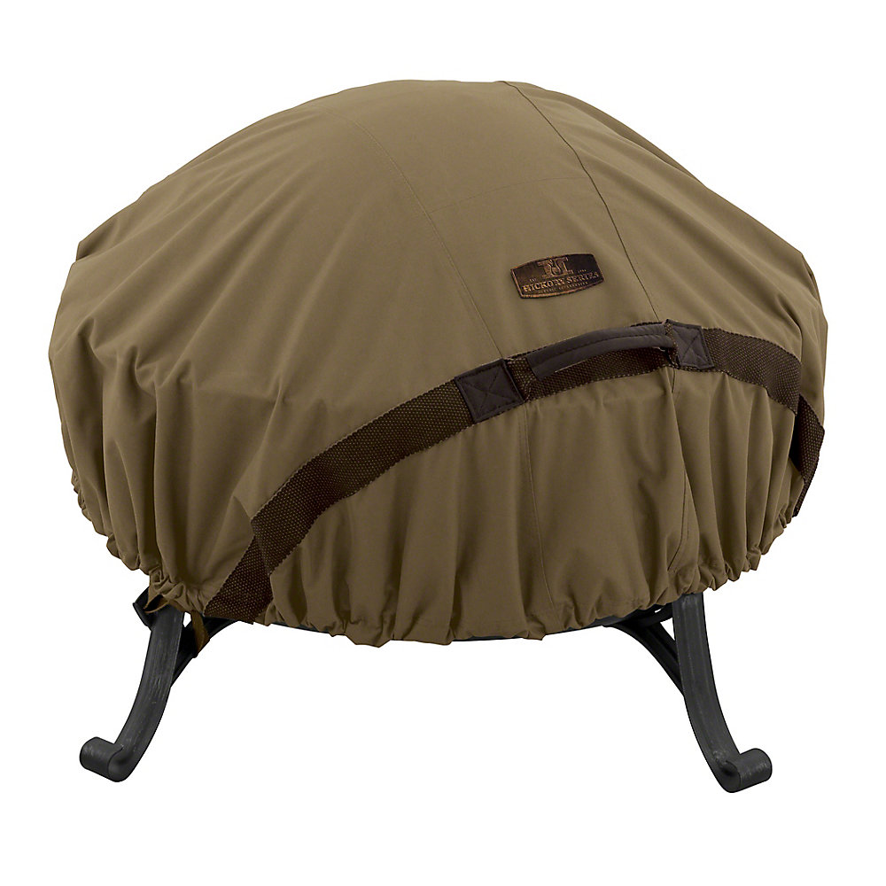 60-inch Hickory Round Fire Pit Cover