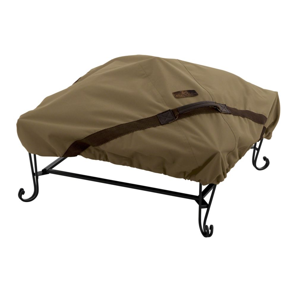 40-inch Hickory Square Fire Pit Cover