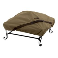 Classic Accessories 40-inch Hickory Square Fire Pit Cover