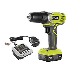 RYOBI 12V Lithium-Ion Cordless 3/8 -inch Drill/Driver Kit with 12V Battery and Charger