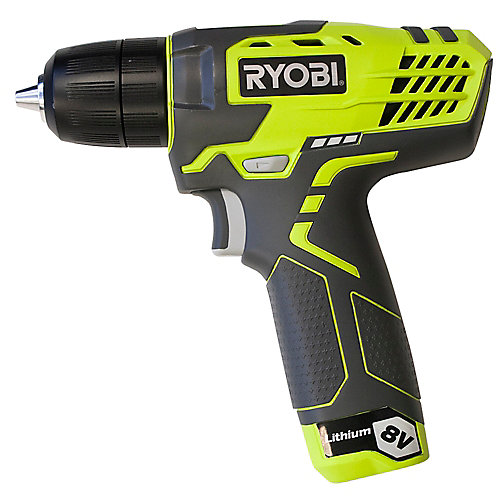 8V Lithium-Ion Cordless Drill Kit with Charger