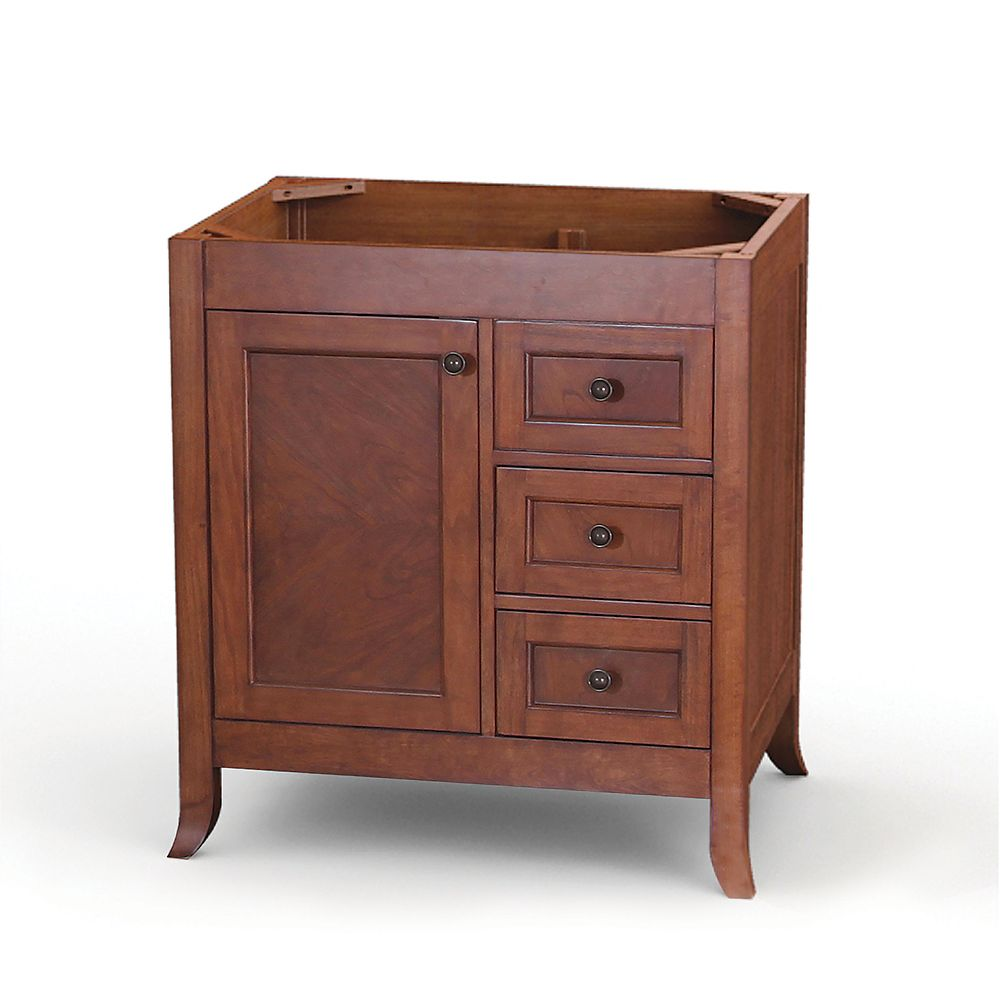 Ashwell 31.13-inch W 2-Drawer 1-Door Freestanding Vanity in Brown