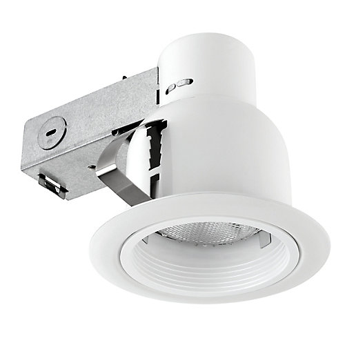 4-inch Outdoor Rust Proof Recessed Lighting Kit in White