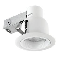 Globe Electric 4-inch Outdoor Rust Proof Recessed Lighting Kit in White