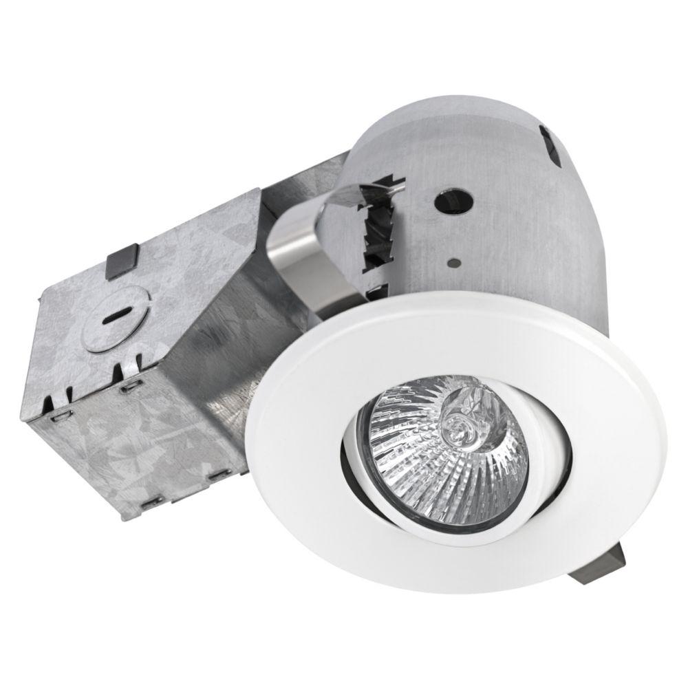 90679 3 Inch Swivel Recessed Lighting Kit, White Finish