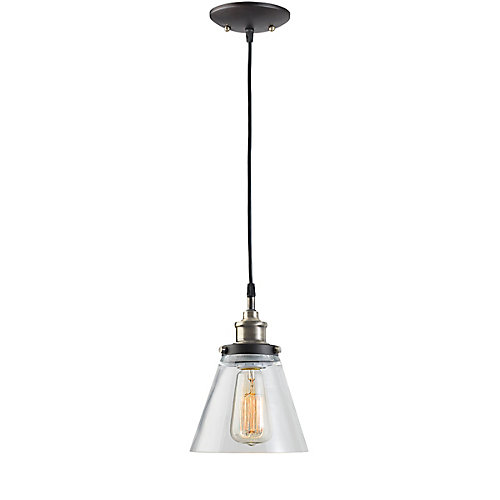 Globe Electric 1 Light Vintage Hanging Pendant Light Fixture With
