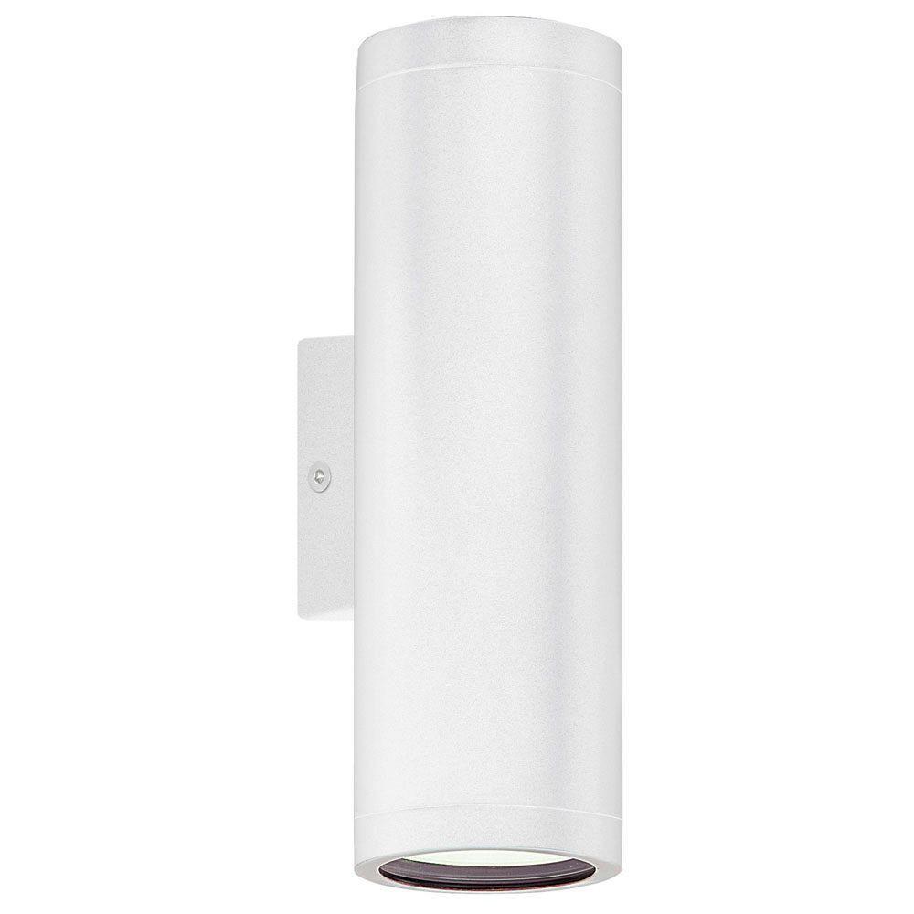 RIGA 1 Post Light 1L, White Finish, Clear Glass