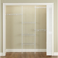 5 ft. to 8 ft. Adjustable Direct Mount Closet Kit