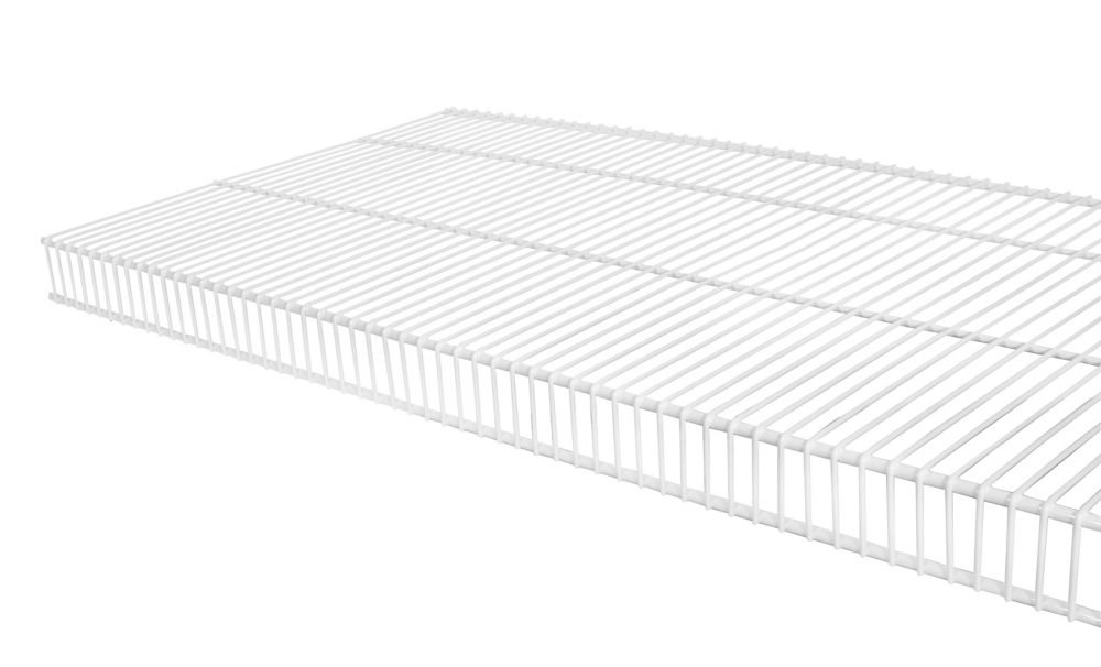 16  Inch x 3 Feet  White TightMesh Wire Shelf Kit