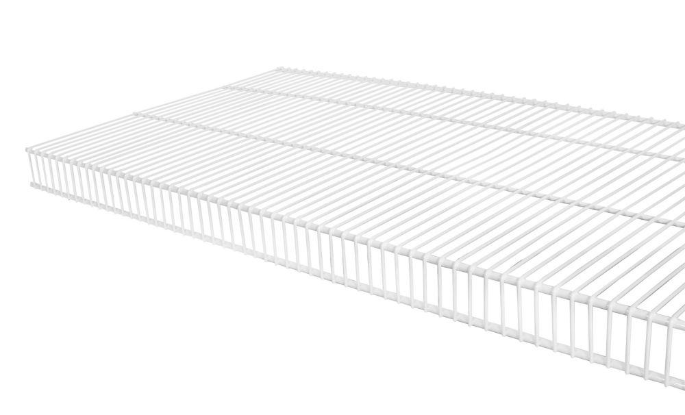 16  Inch x 3 Feet  White TightMesh Wire Shelf Kit