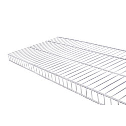 Rubbermaid 12  Inch x 2 Feet  White Linen Wire Shelf Kit